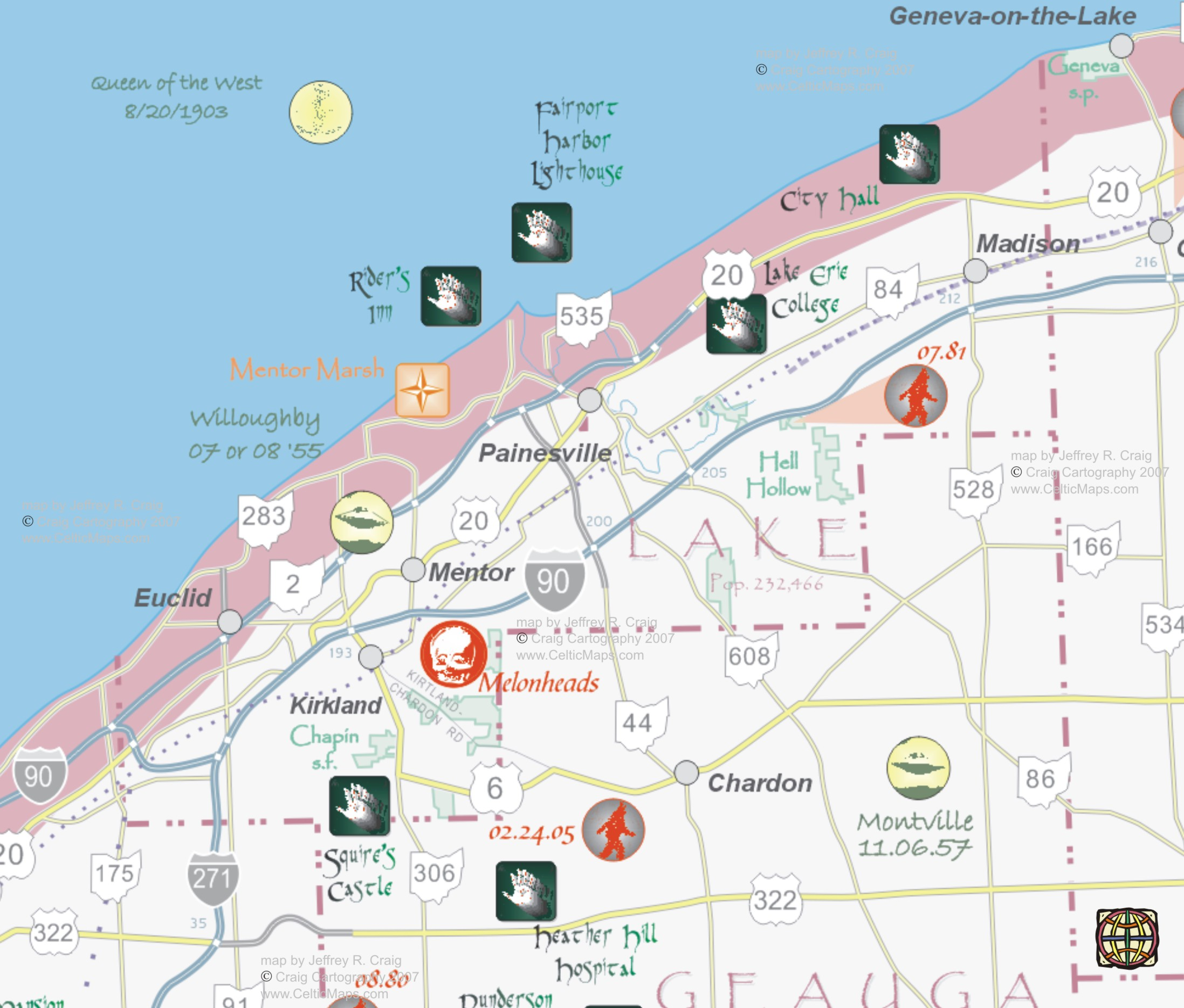 Hidden Ohio Map Amp Guide Lake County Map Preview